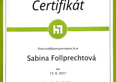 certifikát Remarketing