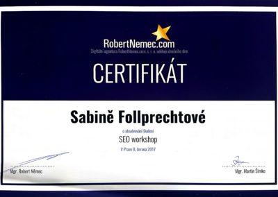 certifikát SEO