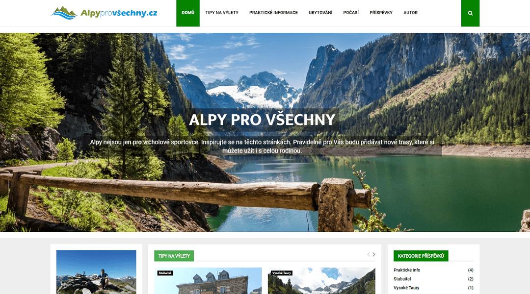 Webdesign Alpyprovšechny.cz